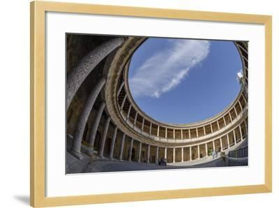 Palace of Charles V, Alhambra, Granada, Province of Granada, Andalusia, Spain-Michael Snell-Framed Photographic Print