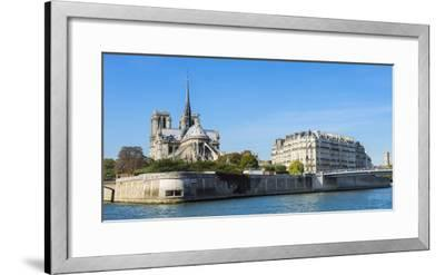 Notre-Dame Cathedral and Ile De La Cite, Paris, France, Europe-G & M Therin-Weise-Framed Photographic Print