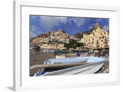 Small Boats on Beach, Positano, Costiera Amalfitana (Amalfi Coast), Campania, Italy-Eleanor Scriven-Framed Photographic Print