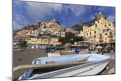 Small Boats on Beach, Positano, Costiera Amalfitana (Amalfi Coast), Campania, Italy-Eleanor Scriven-Mounted Photographic Print