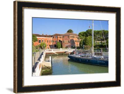 Armenian Monastery, San Lazzaro Degli Armeni, and Armenian Sail Boat, Venice, Veneto, Italy-Guy Thouvenin-Framed Photographic Print