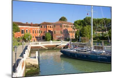 Armenian Monastery, San Lazzaro Degli Armeni, and Armenian Sail Boat, Venice, Veneto, Italy-Guy Thouvenin-Mounted Photographic Print