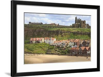 St. Mary's Church and Whitby Abbey Above Tate Hill Beach-Eleanor Scriven-Framed Photographic Print