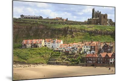 St. Mary's Church and Whitby Abbey Above Tate Hill Beach-Eleanor Scriven-Mounted Photographic Print