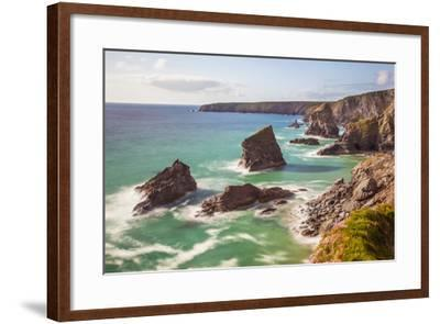 Bedruthan Steps, Newquay, Cornwall, England, United Kingdom-Billy Stock-Framed Photographic Print