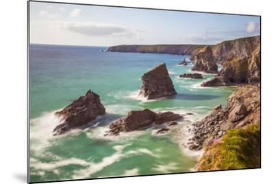 Bedruthan Steps, Newquay, Cornwall, England, United Kingdom-Billy Stock-Mounted Photographic Print