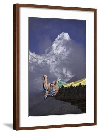 Detail at the Buddhist Monastery in Tengboche in the Khumbu Region of Nepal-John Woodworth-Framed Photographic Print