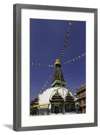 Shree Gha Buddhist Stupa, Thamel, Kathmandu, Nepal, Asia-John Woodworth-Framed Photographic Print