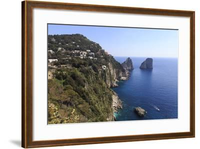 View to Limestone Pinnacles of Faraglioni Rocks from Giardini Di Augusto-Eleanor Scriven-Framed Photographic Print
