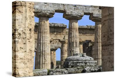 Temple of Hera (The Basilica) 530 Bc, Oldest Greek Temple at Paestum, Campania, Italy-Eleanor Scriven-Stretched Canvas Print