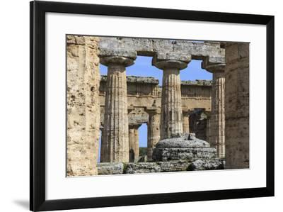 Temple of Hera (The Basilica) 530 Bc, Oldest Greek Temple at Paestum, Campania, Italy-Eleanor Scriven-Framed Photographic Print
