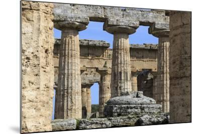 Temple of Hera (The Basilica) 530 Bc, Oldest Greek Temple at Paestum, Campania, Italy-Eleanor Scriven-Mounted Photographic Print