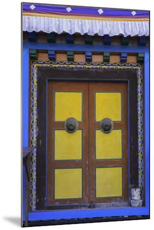 Door at the Buddhist Monastery in Tengboche in the Khumbu Region of Nepal, Asia-John Woodworth-Mounted Photographic Print