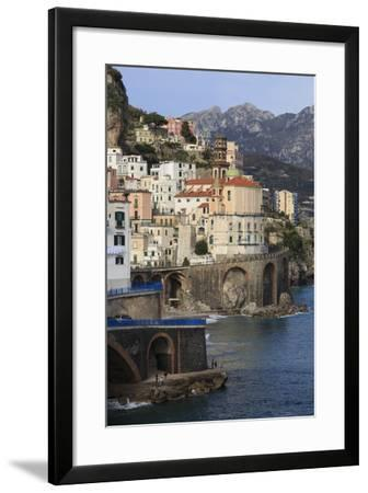 Church of Santa Maria Maddalena and Coast Road-Eleanor Scriven-Framed Photographic Print