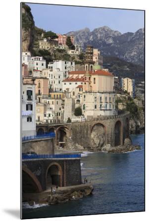 Church of Santa Maria Maddalena and Coast Road-Eleanor Scriven-Mounted Photographic Print