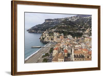 Minori, Beach, Town-Eleanor Scriven-Framed Photographic Print