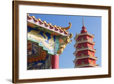 Pagoda at Ten Thousand Buddhas Monastery, Shatin, New Territories, Hong Kong, China, Asia-Ian Trower-Framed Photographic Print