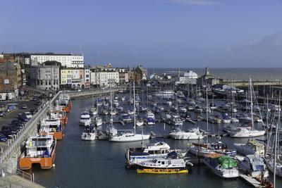 View of the Royal Harbour and Marina at Ramsgate, Kent, England, United Kingdom-John Woodworth-Framed Photographic Print