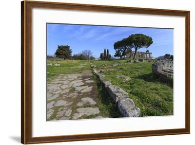 Temple of Athena (Temple of Ceres), Paestum, Greek Ruins, Campania, Italy-Eleanor Scriven-Framed Photographic Print