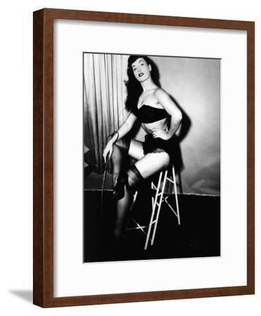 Bettie Page, American Model and Pin Up, C. 1955--Framed Photo