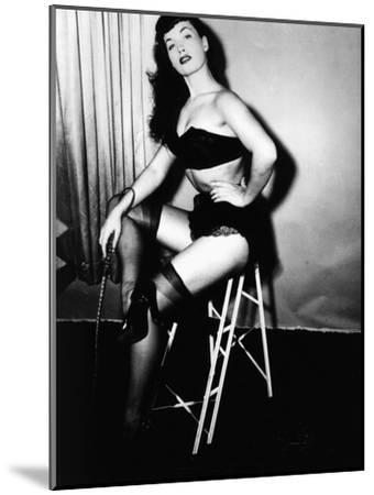 Bettie Page, American Model and Pin Up, C. 1955--Mounted Photo