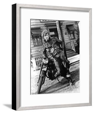 The Wild One, Marlon Brando--Framed Photo