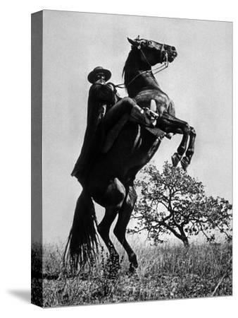 Le Signe De Zorro the Sign of Zorro De Norman Foster Et Lewis R. Foster Avec Guy Williams 1958--Stretched Canvas Print