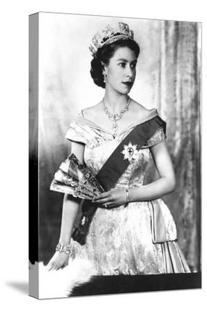 Queen Elizabeth II of England (Daughter of Georgevi) Here in 1952--Stretched Canvas Print
