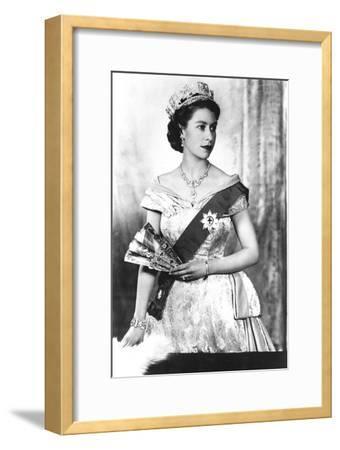 Queen Elizabeth II of England (Daughter of Georgevi) Here in 1952--Framed Photo