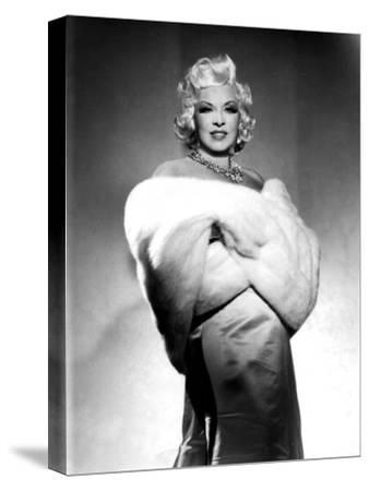 American Actress Mae West (1892-1980) with Fur Stole C. 1940--Stretched Canvas Print