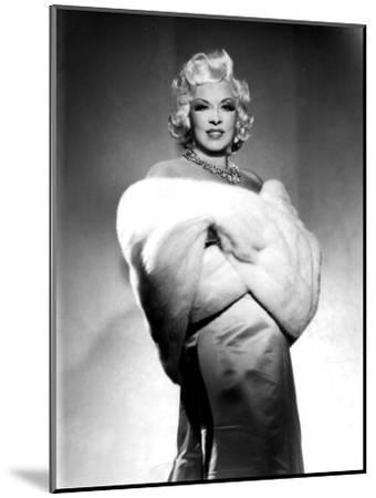 American Actress Mae West (1892-1980) with Fur Stole C. 1940--Mounted Photo