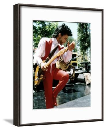American Singer Prince (Prince Rogers Nelson) in the 80'S--Framed Photo