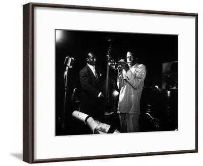Miles Davis (C) with Oscar Pettiford and Bud Powell, Birdland, 1949--Framed Photo