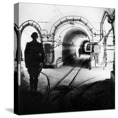 Underground Galleries in Line Maginot (France) 1939-1940--Stretched Canvas Print