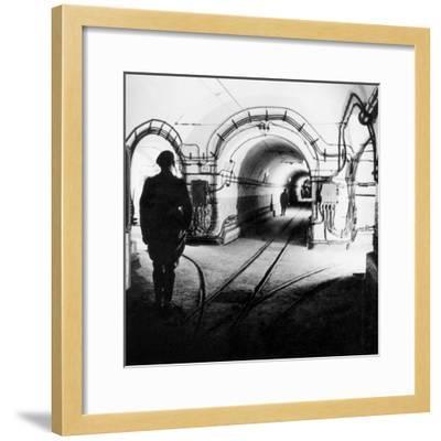 Underground Galleries in Line Maginot (France) 1939-1940--Framed Photo