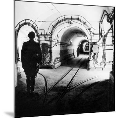 Underground Galleries in Line Maginot (France) 1939-1940--Mounted Photo