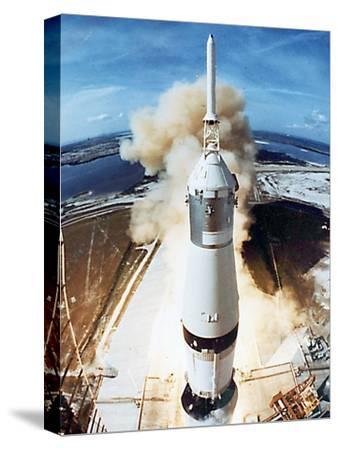 Lift Off of Apollo 11 Mission, with Neil Armstrong, Michael Collins, Edwin Buzz Aldrin, July 1969--Stretched Canvas Print