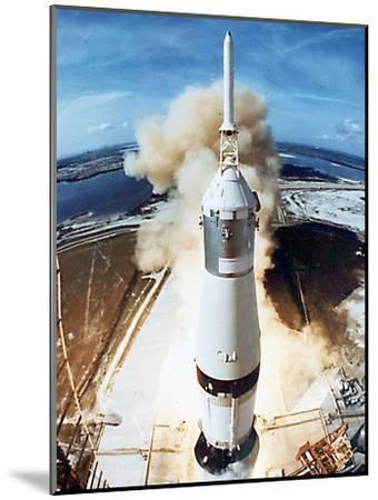 Lift Off of Apollo 11 Mission, with Neil Armstrong, Michael Collins, Edwin Buzz Aldrin, July 1969--Mounted Photo