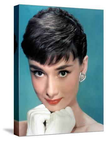 Portrait of the American Actress Audrey Hepburn, Photo for Promotion of Film Sabrina, 1954--Stretched Canvas Print