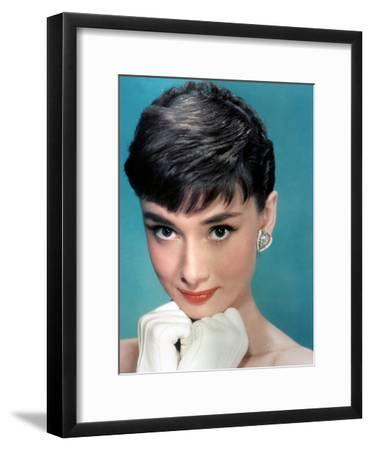 Portrait of the American Actress Audrey Hepburn, Photo for Promotion of Film Sabrina, 1954--Framed Photo