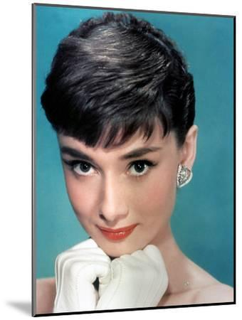 Portrait of the American Actress Audrey Hepburn, Photo for Promotion of Film Sabrina, 1954--Mounted Photo