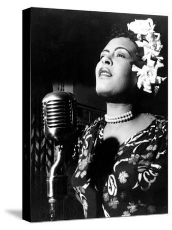 Jazz and Blues Singer Billie Holiday (1915-1959) in the 40's--Stretched Canvas Print