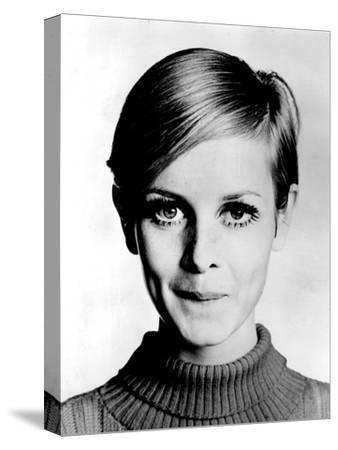 The Model Twiggy in 1967--Stretched Canvas Print