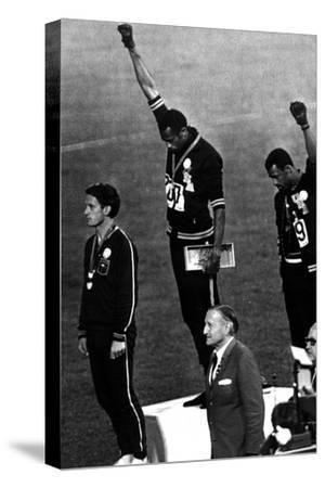 Winners of the Men's 200 Metres on the Podium, 1968 Olympic Games, Mexico City--Stretched Canvas Print