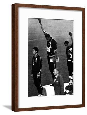 Winners of the Men's 200 Metres on the Podium, 1968 Olympic Games, Mexico City--Framed Photo