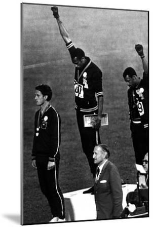 Winners of the Men's 200 Metres on the Podium, 1968 Olympic Games, Mexico City--Mounted Photo