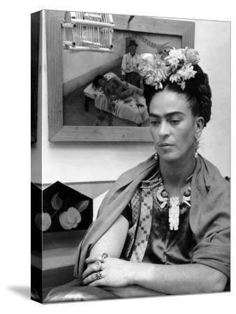 Mexican Painter Frida Kahlo (1907-1954) 1948--Stretched Canvas Print