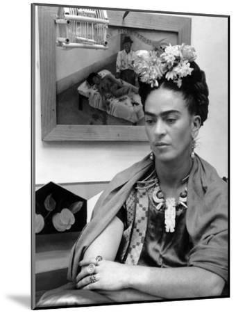 Mexican Painter Frida Kahlo (1907-1954) 1948--Mounted Photo