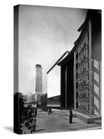 World Fair, Paris, 1937 : the Pavilion of Metal : Wrought Iron Door by Raymond Subes--Stretched Canvas Print