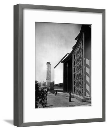 World Fair, Paris, 1937 : the Pavilion of Metal : Wrought Iron Door by Raymond Subes--Framed Photo